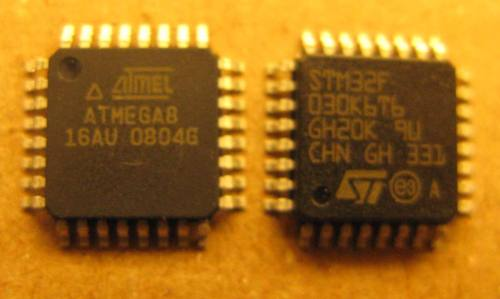 Mega8-vs-STM32F030